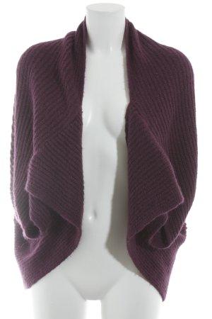 Sisley Torera de punto púrpura look casual