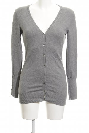 Sisley Strickjacke grau Casual-Look