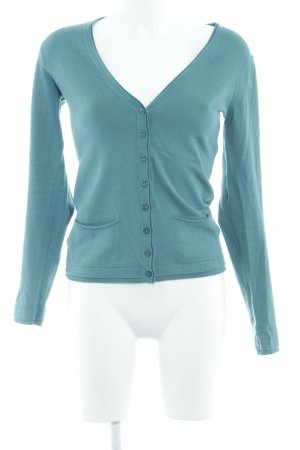 Sisley Strickjacke kadettblau Casual-Look