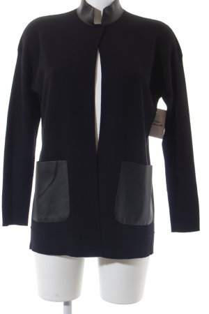 Sisley Strickjacke schwarz Casual-Look