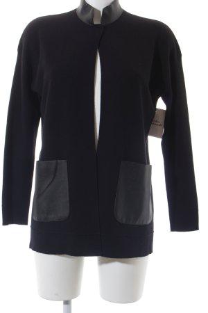 Sisley Strickjacke schwarz Casual-Look