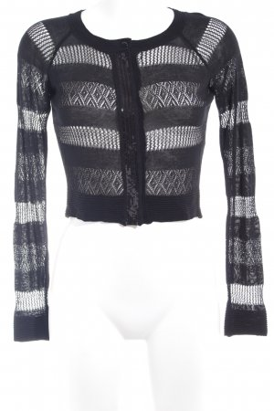Sisley Strickjacke schwarz Elegant