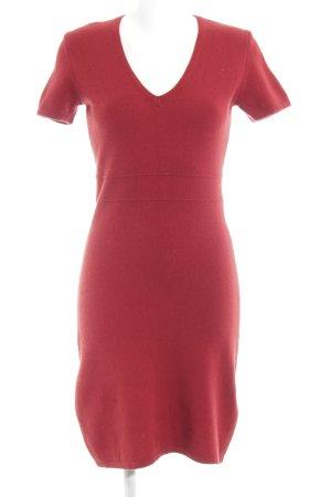 Sisley Gebreide jurk donkerrood simpele stijl