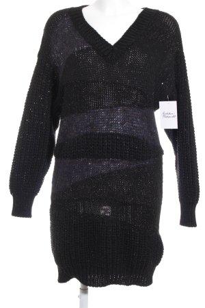 Sisley Strickkleid schwarz Casual-Look