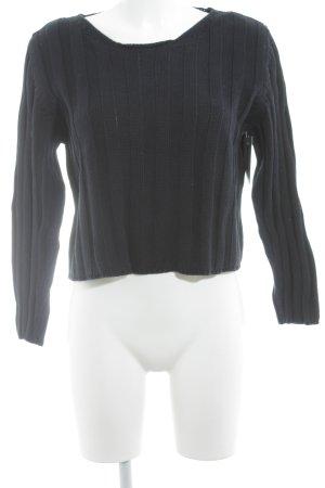 Sisley Strickpullover dunkelblau Casual-Look