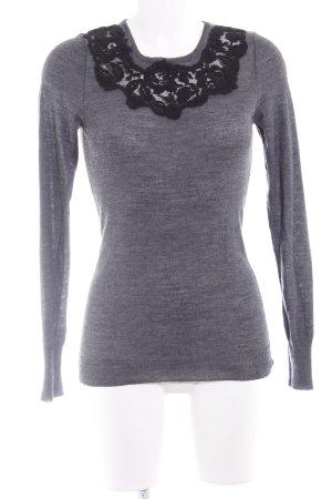 Sisley Strickpullover grau-schwarz Casual-Look