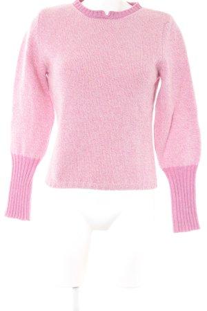 Sisley Strickpullover rosa-weiß meliert Casual-Look