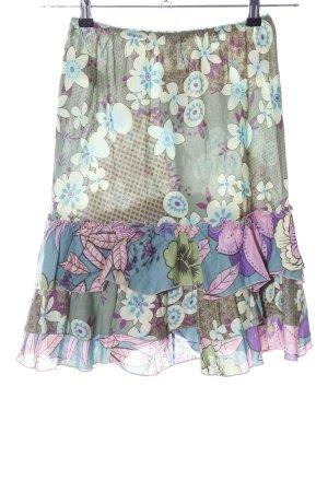 Sisley Gelaagde rok bloemenprint extravagante stijl