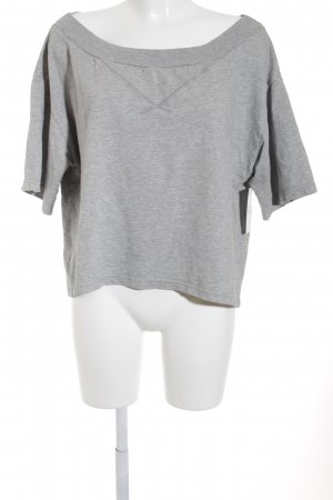 Sisley Felpa grigio chiaro puntinato stile casual