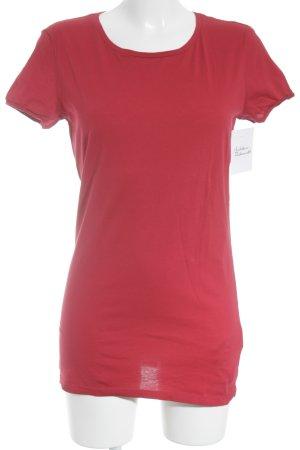 Sisley T-Shirt dunkelrot Casual-Look