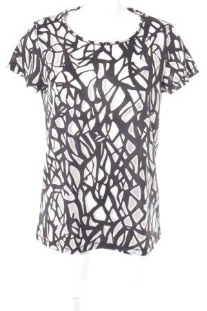 Sisley T-Shirt schwarz-hellbeige Transparenz-Optik
