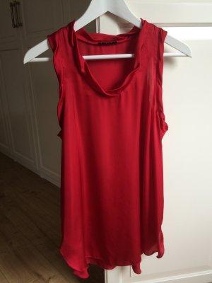Sisley Top Rot Glänzend Lang Größe S