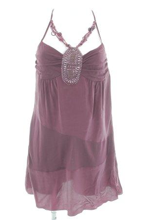Sisley Trägerkleid purpur Boho-Look
