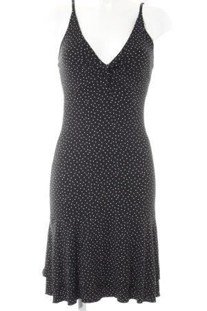 Sisley Trägerkleid schwarz-weiß Punktemuster Casual-Look