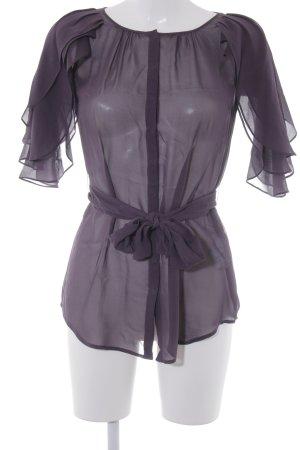 Sisley Transparenz-Bluse braunviolett Casual-Look