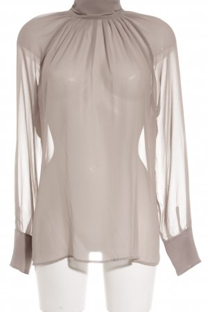 Sisley Transparenz-Bluse graubraun Business-Look