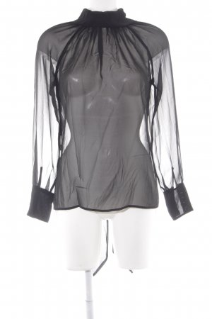 Sisley Transparenz-Bluse schwarz Transparenz-Optik
