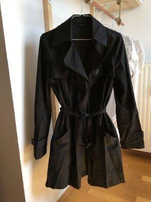 Sisley Trenchcoat schwarz