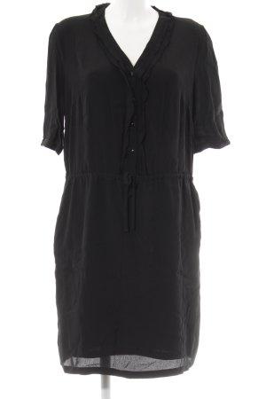 Sisley Vestido tipo túnica negro Estilo playero