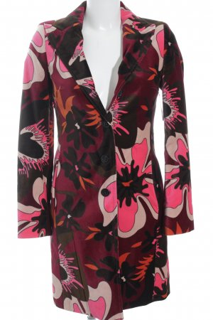 Sisley Übergangsmantel florales Muster extravaganter Stil