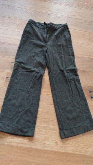 Sisley Pantalone culotte verde scuro
