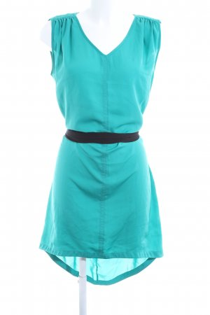 Sisley High Low Dress turquoise casual look