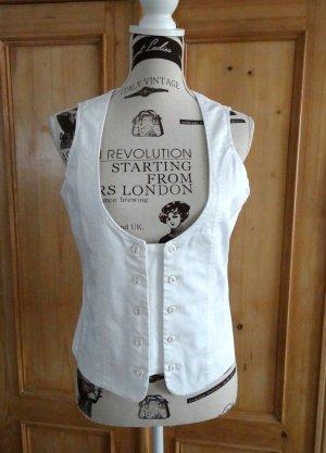Sisley Gilet de costume blanc coton