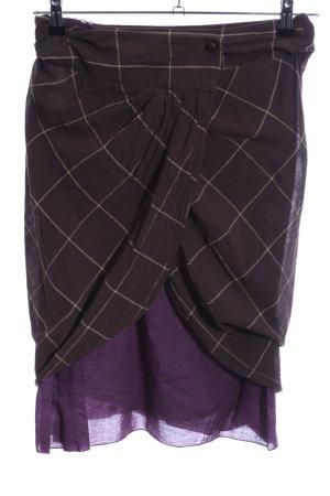 Sisley Wraparound Skirt lilac check pattern elegant