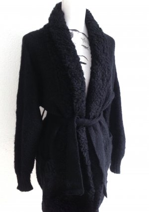 SISLEY Winter Strick Jacke Cardigan Mohair Wolle Benetton – XS/S