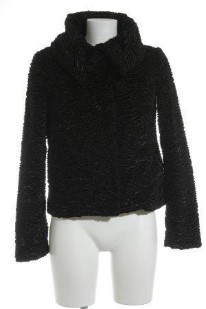Sisley Winterjacke schwarz Webmuster Elegant