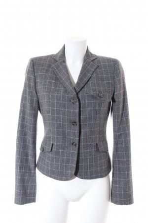 Sisley Wool Blazer grey-light grey check pattern Brit look