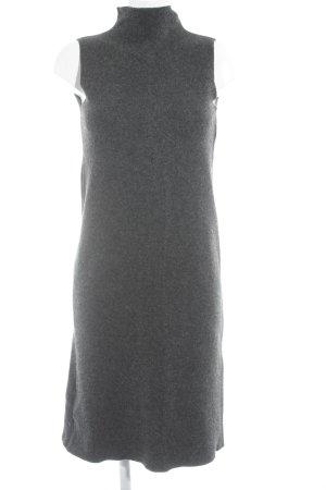 Sisley Vestito di lana grigio scuro stile minimalista