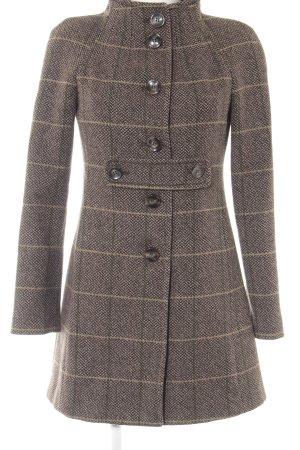 Sisley Wollen jas geruite print casual uitstraling