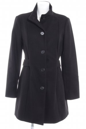 Sisley Wollmantel schwarz Elegant