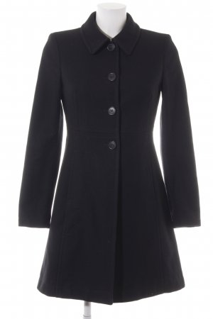 Sisley Wollmantel schwarz schlichter Stil