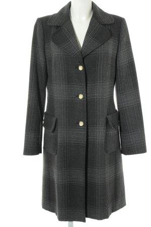 Sisley Wool Coat taupe-grey check pattern casual look