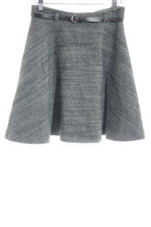 Sisley Falda de lana negro-blanco look casual