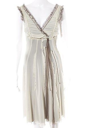Siste's Minikleid creme-dunkelbraun extravaganter Stil
