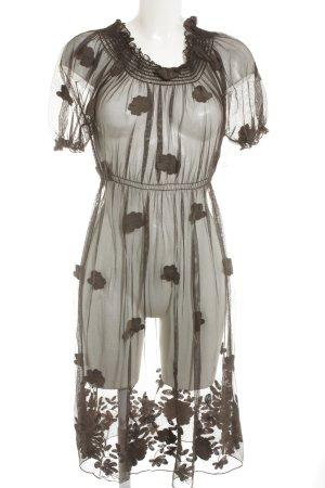 Siste's schulterfreies Kleid dunkelbraun-graubraun Casual-Look