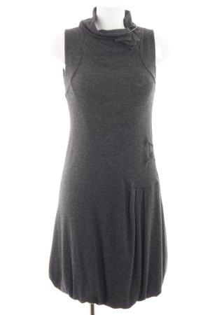 Siste's Gebreide jurk zwart gestippeld casual uitstraling