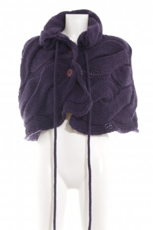 Siste's Knitted Poncho lilac cable stitch elegant