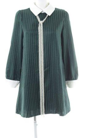 Sister Jane Hemdblusenkleid waldgrün-weiß Nadelstreifen Elegant