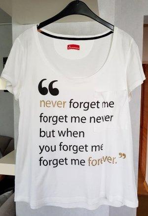 Sisterhood Slogan T-Shirt mit Aufdruck weiß M