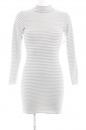sisters Langarmkleid weiß-schwarz Streifenmuster Casual-Look