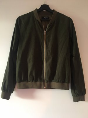 Sisters point Bomber Jacket dark green-gold-colored