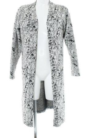 Sisters point Cardigan blanc-noir motif graphique style décontracté