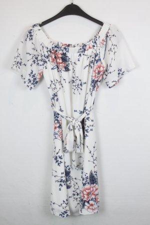 Sisters Point Kleid Midikleid Gr. S weiß mit Flower Print (18/3/142)