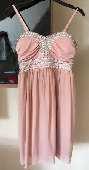 Sisters Point Kleid mit Ziersteinbesatz - Rosé