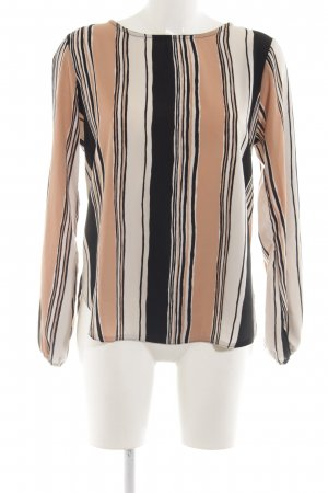 Sisters point Langarm-Bluse Streifenmuster Casual-Look