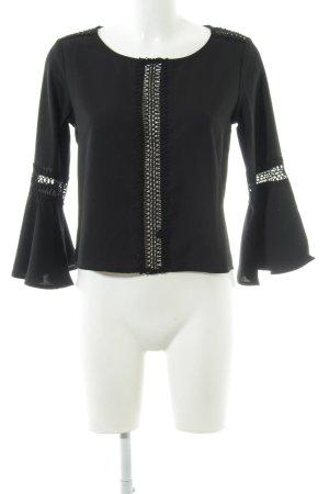 Sisters point Tuniekblouse zwart straat-mode uitstraling